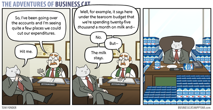 The Adventures of Business Cat - Budget by tomfonder
