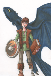 Hiccup and Toothless by SmilinJack