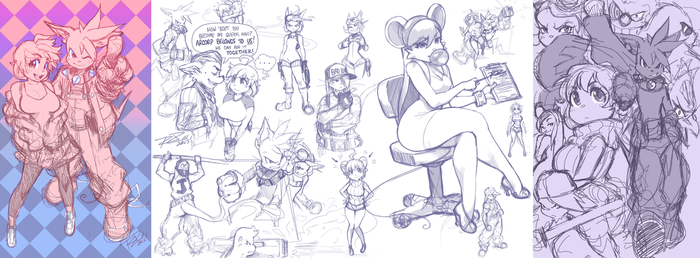 Ratty Sketch Compilation by Robaato