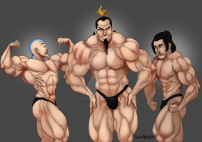 [C] Aang, Ozai and Hahn by roemesquita