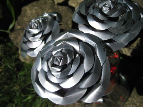 Recycled Pop Can Roses by Christine-Eige