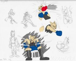 Boxing Fox by MJopaArtist