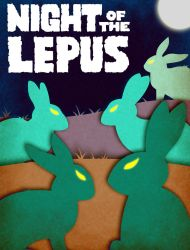 Night of the Lepus - Minimalist Poster by earthbaragon