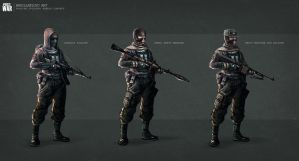 Russian rebels soldiers concept by badillafloyd