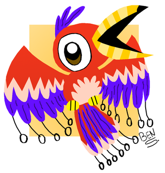Ring Wing Parrot by DemoComics