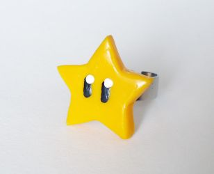 Invincibility star - ring by FrozenNote