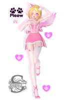 Tda Pink Cat Rin-chan DL !! by Evelyn-sama