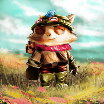 Teemo at the Fields of Gold by eerea