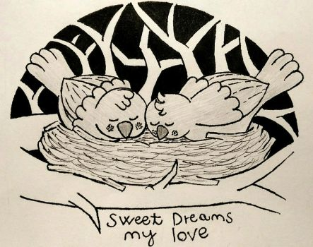 Sweet dreams (Inktober 26) by RedisInsect