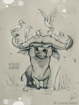 Day 7 - Cape Buffalo - by Loisa