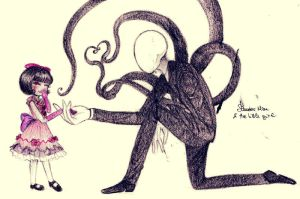 Slender Man - Nice to meet you, little girl by Petunia43