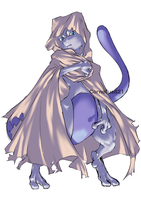 Mewtwo (with a hooded cloak ver.) by Cornelius821