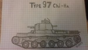 (Rq) Type 97 Chi-Ha by Gybby3