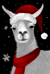Christmas llama by Canfas