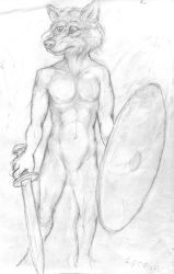Warrior Wolf W.I.P. by Nayikee