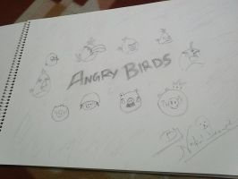 Angry Birds Sketch by nakulanand
