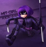Hit-Girl by vincentowo