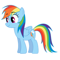Excited Rainbow Dash by RogerDaily
