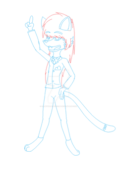 Ms paint Learning how to draw a anthro cat by GabbyWabbyTheCat