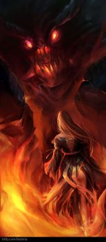 Through the Inferno by Pearlpencil
