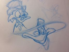Scrooge and Darkwing by AnimalQwacker
