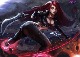 Katarina - League of Legends by MiraiHikariArt