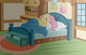 Fluttershy : All tucked up by Kooner-cz