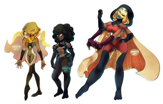 Commission: Black Pearl and Champagne Pearl FUSION by Sandette