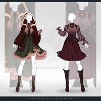 (CLOSED) Adoptable Outfit Auction 286-287 by JawitReen