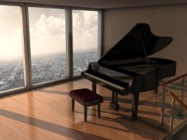 Piano Room by imonkey89