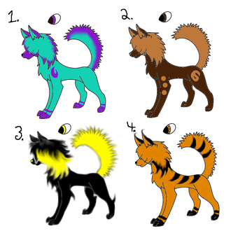 Wolf Adopts! 1 Point! by FeathersAndMustaches