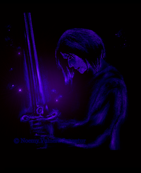 Severus Snape with The Sword of Gryffindor by noemy8