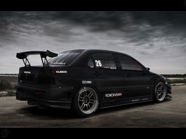 Lancer Evo IX - Rear view by Cop-creations