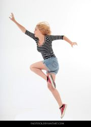 Jumping - Action Pose Reference 7 by faestock
