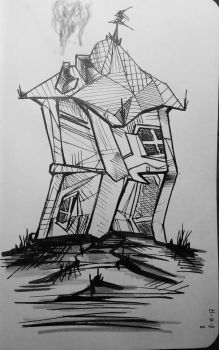 Inktober17 Day 8-The House by Dan21Almeida95