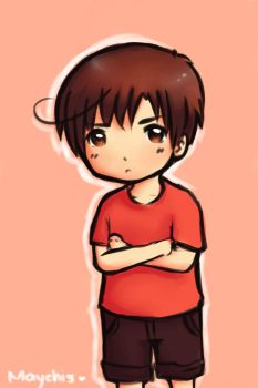 Chibi/young Romano? xD by Maychis