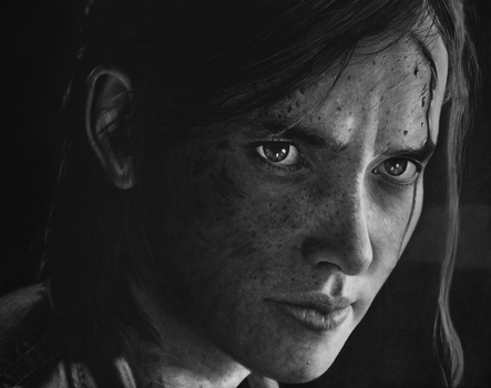Ellie - The Last of Us 2 - Pencil Portrait by Names76