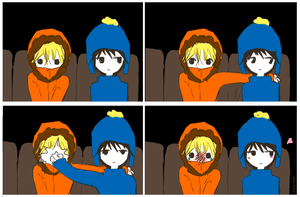 Kenny and Craig by Nile-kun