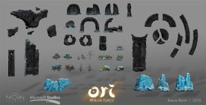 Ori and the Blind Forest - Forlorn Ruins Assets by acapulc0