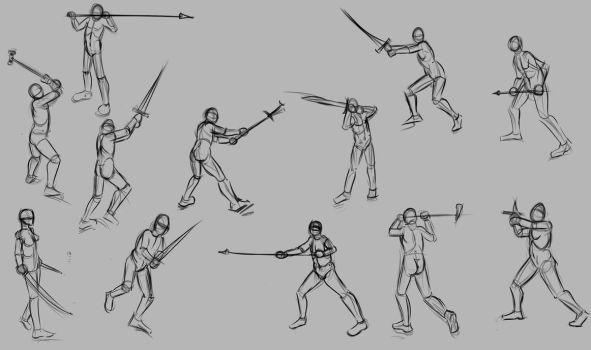 Melee-poses by TimothyWilson