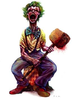 Clown and mallet by wongas