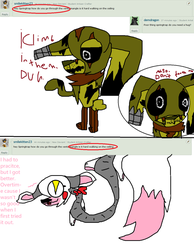 Ask Springtrap And Mangle - Asks 5  6 by HowlingWolfChain