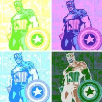 Captain America Pop Art by DevintheCool