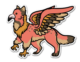 Flamingo Griffin by Yellow-K9