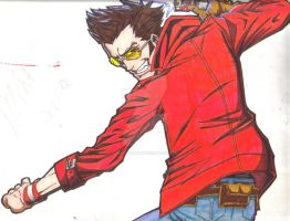 travis touchdown drawing by immortalSHI