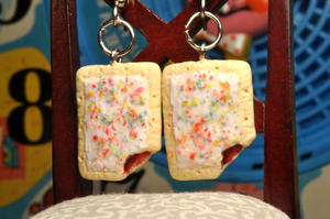 Strawberry Poptart Earrings by rottingteeth