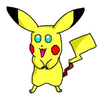 Pikachu ms paint by 1Meh1