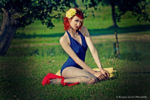 Yellow Dahlia by Rubelle