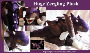 Huge Zergling Plush - Commission - Starcraft II by Forge-Your-Fantasy