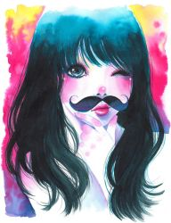 All is Better with a Mustache -AVAILABLE FOR SALE- by Victoria-Rivero